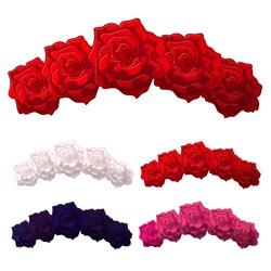 Vector Rose Flower crown. Diadem. Head wreath. flower halo. decoration.  Headband. Flower Headband.