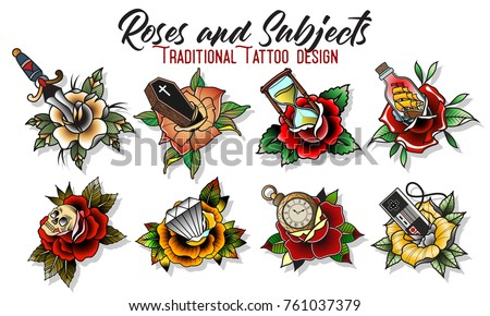 vector roses and subjects