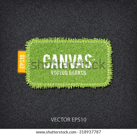 vector rough stitched green