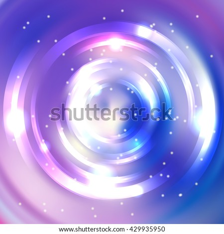 vector round frame  shining