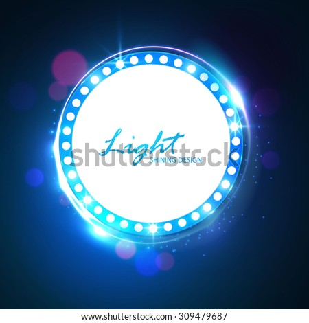 vector round frame shining