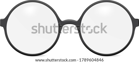 Vector round glasses - isolated on white background Foto stock ©
