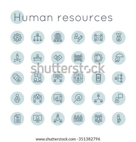 Vector Round HR Icons