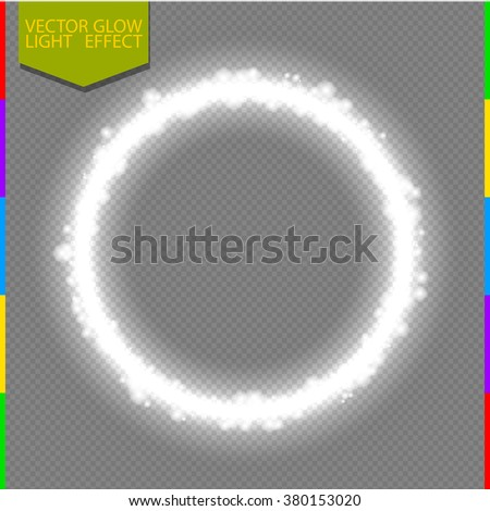 vector round shiny frame with