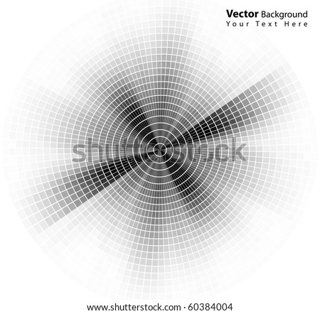 Vector round style abstract grayscale background