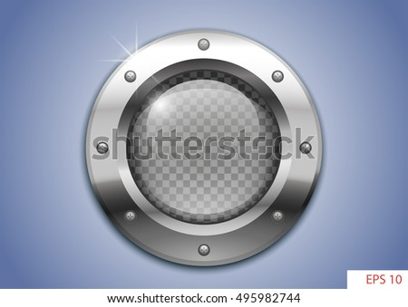 vector round window or porthole