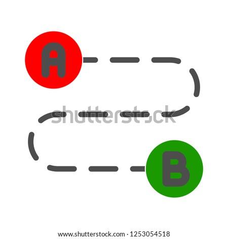 vector route icon