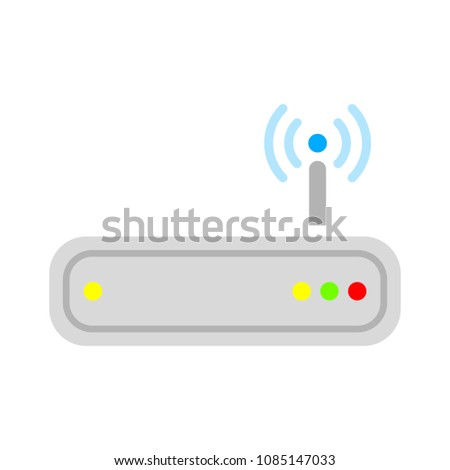 vector router modem illustration, computer technology internet, connection equipment symbol