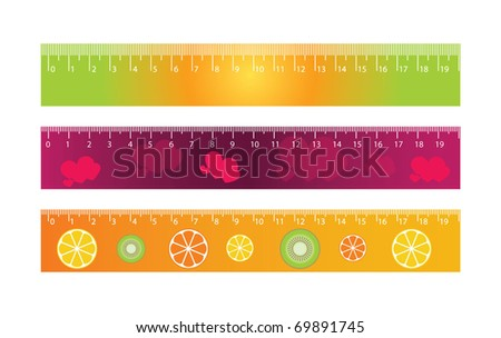 centimeters on ruler. centimeters on ruler. stock