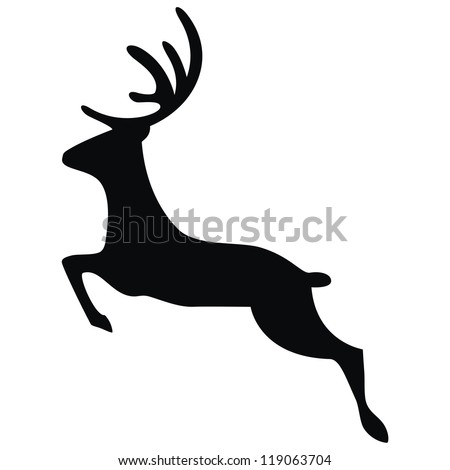 Vector - Running Deer - stock vector