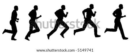 Running Logo Vector Vector Running Man 2