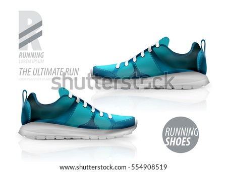 vector running shoes ad product