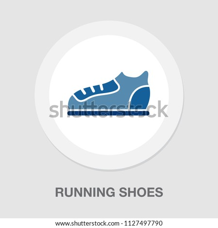 vector running shoes illustration isolated - foot wear symbol. footwear sign