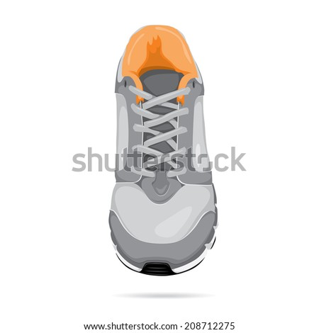 Running shoe vector