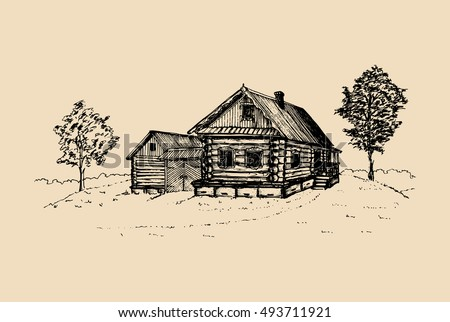 vector rural landscape...
