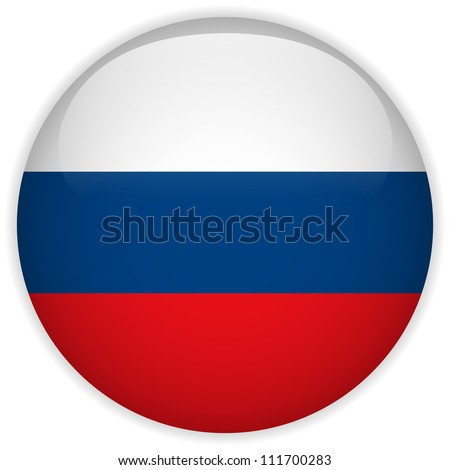 vector   russia flag glossy