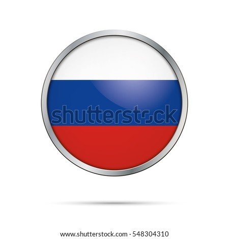 vector russian flag button