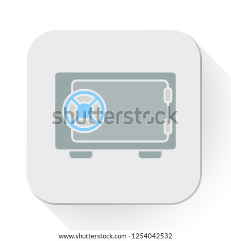 vector safe icon. Flat illustration of safe box. wealth safety concept isolated on white background. banking sign symbol - metal safe icon