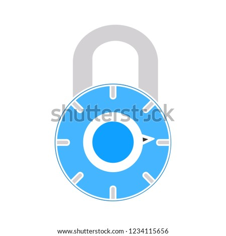 vector safe padlock isolated icon - encryption password illustration sign