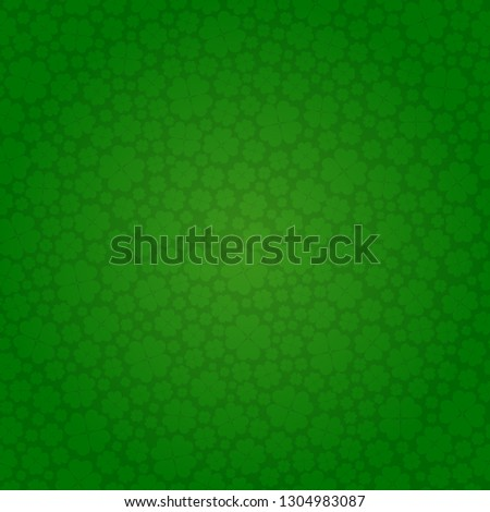 vector Saint Patrick's day seamless shamrock background