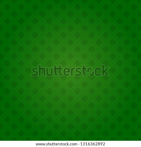 vector Saint Patrick's day seamless shamrock background