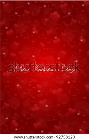 vector Saint Valentine's Day greeting card