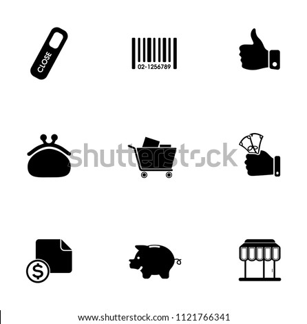 vector sale and shopping icons set, price tag sign symbols. promotion illustrations
