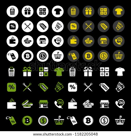 vector sale and shopping icons set, price tag sign symbols. Shopping promotion illustrations