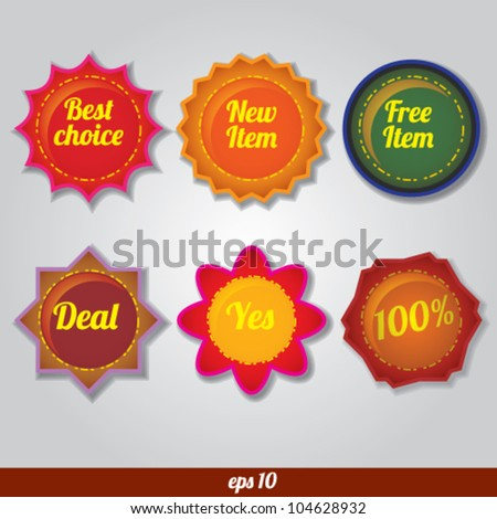 vector sale badge and label set