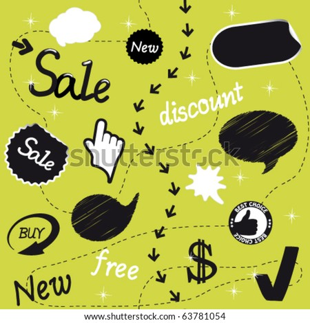 Vector sale set - stock vector