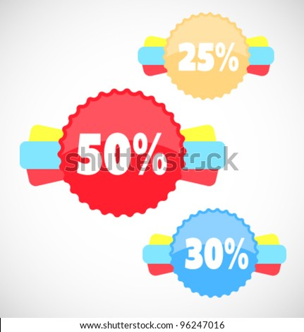 Vector sale stickers and labels