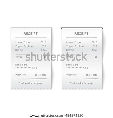 vector sales printed receipt....