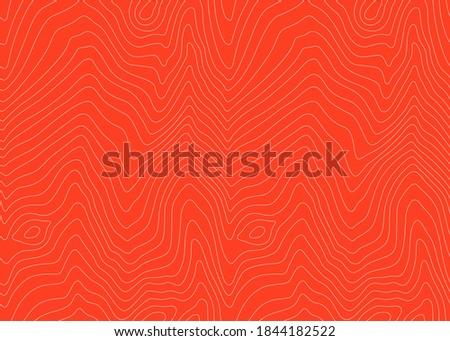 Vector Salmon Meat Illustration. Fillet Seamless Pattern. Salmon Abstract Fish Texture.