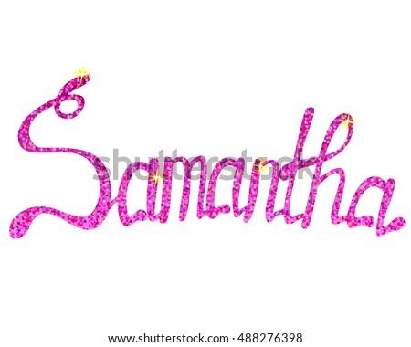 vector samantha name lettering