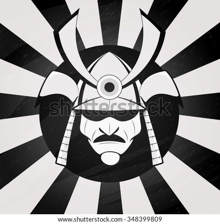 Vector Samurai Mask. Japanese Traditional Martial Mask ...
