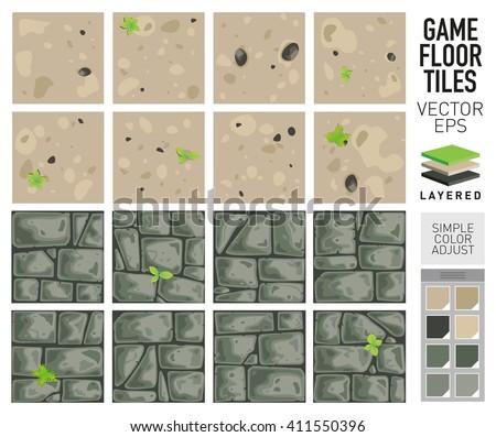 vector sand and dirt floor