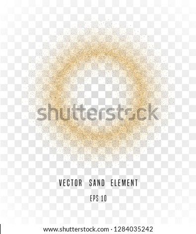 vector sand circle isolated on