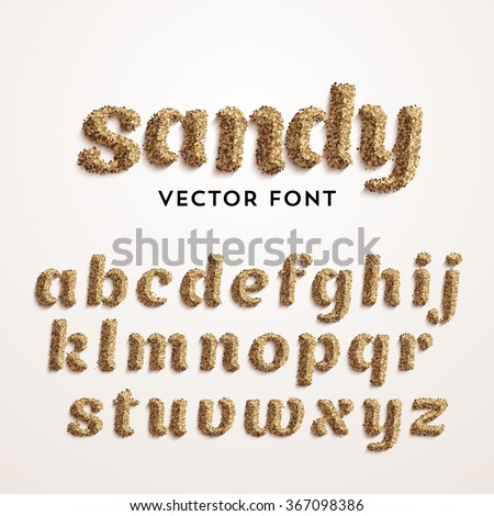 vector sand font realistic
