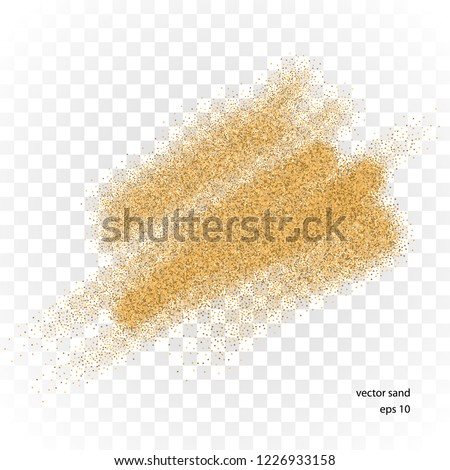 vector sand stain isolated on