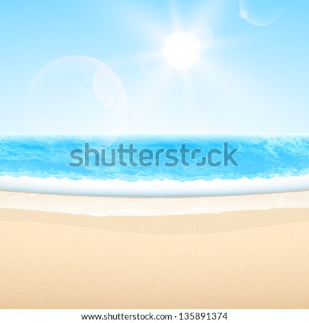 vector sandy sea beach summer