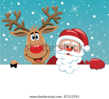 vector santa cartoon with funny