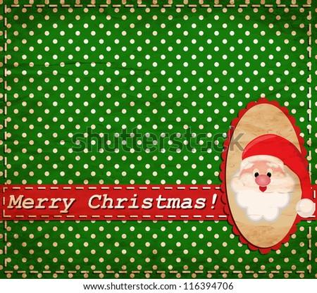 vector Santa Claus vintage Christmas card