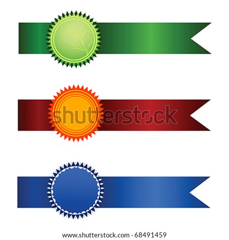 Vector Satisfaction Guaranteed set of tags isolated over white background