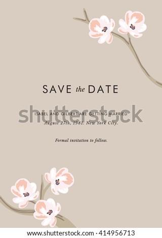 Vector Save the Date invitation design