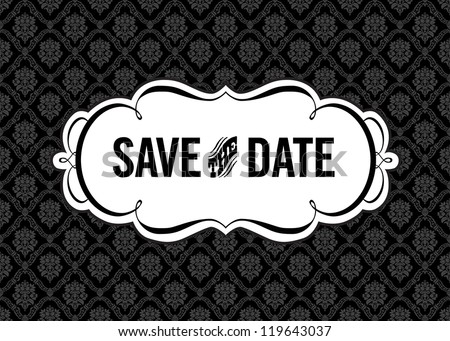 vector save the date ornate