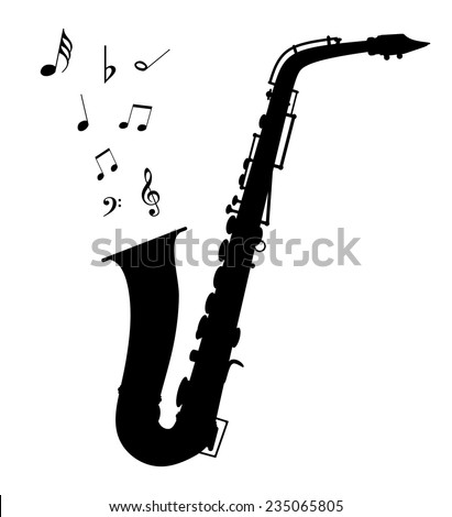 Vector saxophone - Illustration EPS-10