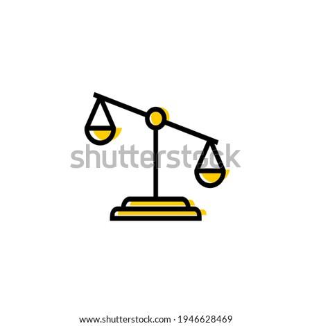 Vector scale icon. Icon of injustice Сток-фото ©