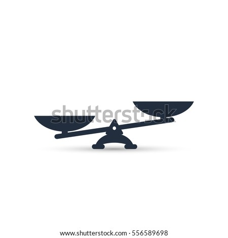 Vector scales Icon, isolated on white bacground.