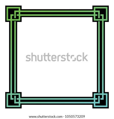 vector Scandinavian frame