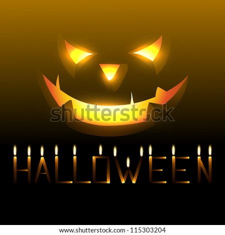 vector scary happy halloween design